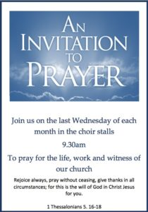 An Invitation to Prayer @ St. Cuthbert's Church